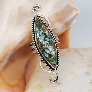Silver Ring Natural Turquoise Stone